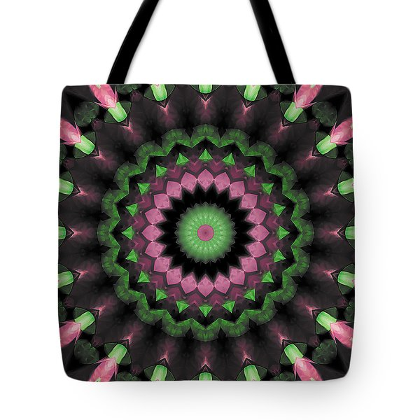 Tote Bag featuring the digital art Mandala 34 by Terry Reynoldson