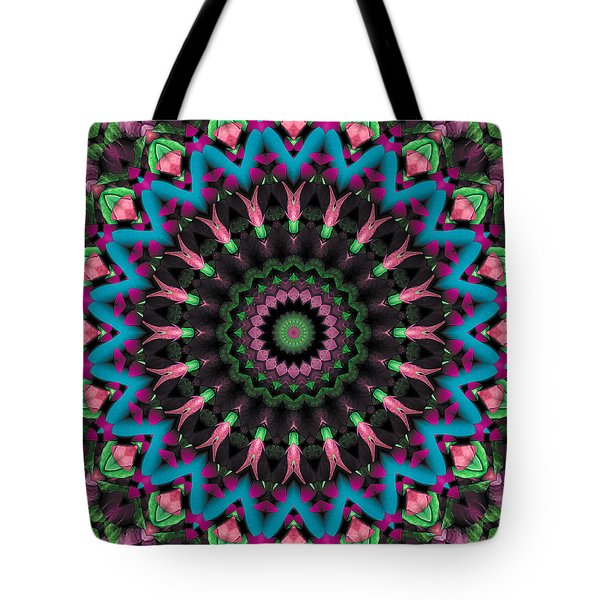Tote Bag featuring the digital art Mandala 35 by Terry Reynoldson