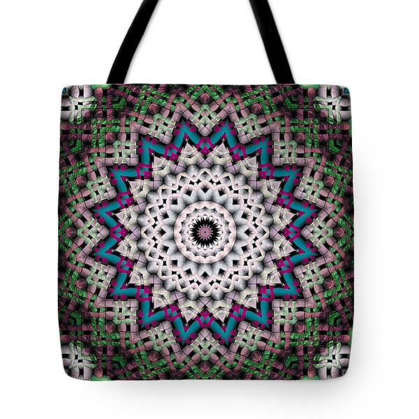 Tote Bag featuring the digital art Mandala 37 by Terry Reynoldson