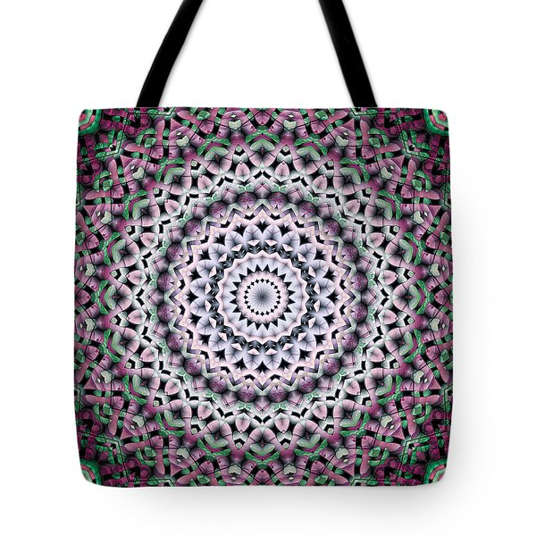 Tote Bag featuring the digital art Mandala 38 by Terry Reynoldson