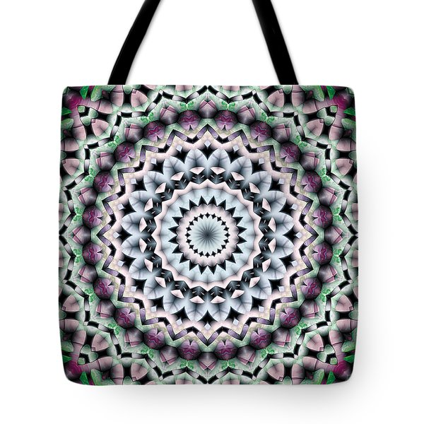 Tote Bag featuring the digital art Mandala 40 by Terry Reynoldson