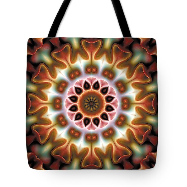 Tote Bag featuring the digital art Mandala 67 by Terry Reynoldson