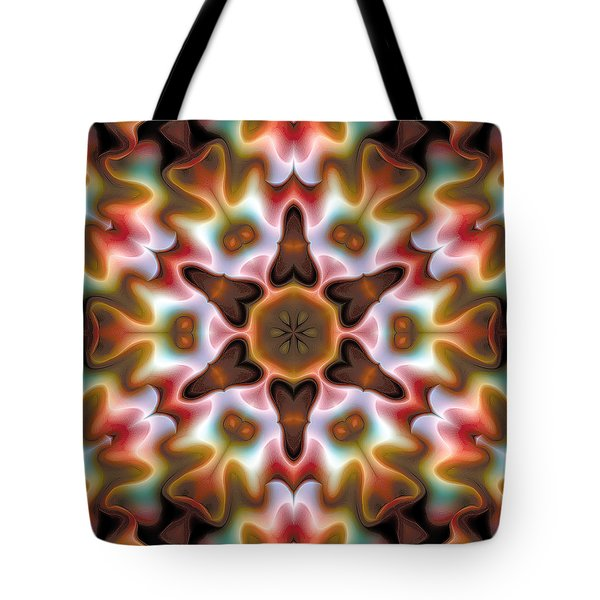 Tote Bag featuring the digital art Mandala 68 by Terry Reynoldson