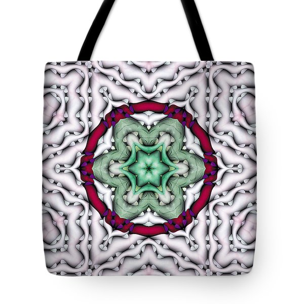 Tote Bag featuring the photograph Mandala 7 by Terry Reynoldson