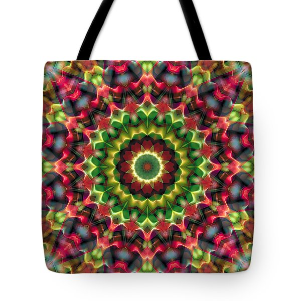 Tote Bag featuring the digital art Mandala 70 by Terry Reynoldson