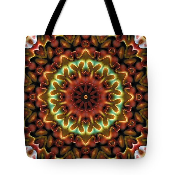 Tote Bag featuring the digital art Mandala 71 by Terry Reynoldson