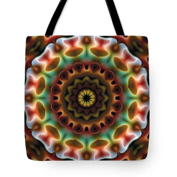 Tote Bag featuring the digital art Mandala 74 by Terry Reynoldson