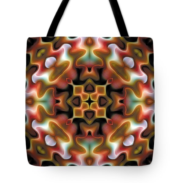 Tote Bag featuring the digital art Mandala 76 by Terry Reynoldson