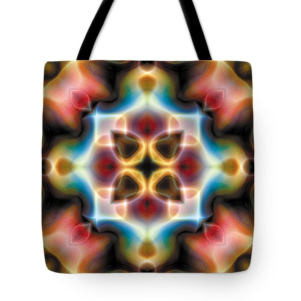 Tote Bag featuring the digital art Mandala 77 by Terry Reynoldson