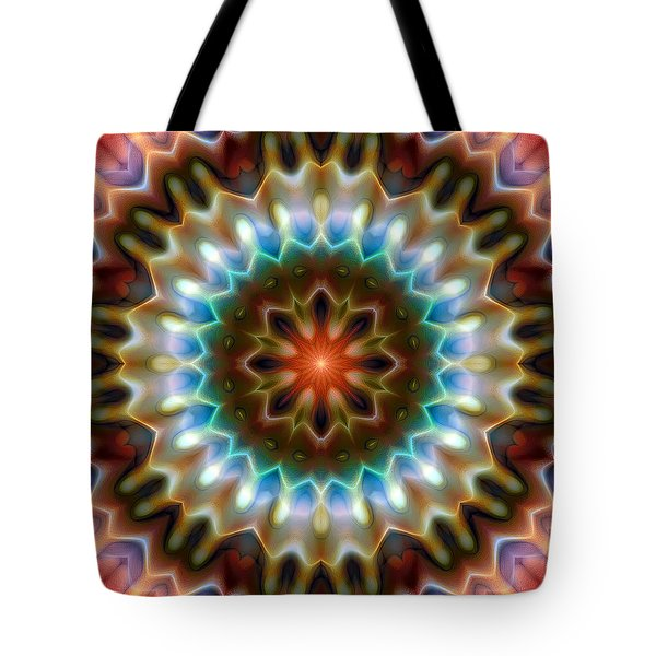 Tote Bag featuring the digital art Mandala 79 by Terry Reynoldson