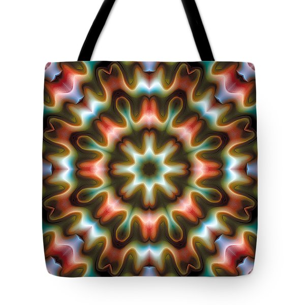 Tote Bag featuring the digital art Mandala 80 by Terry Reynoldson