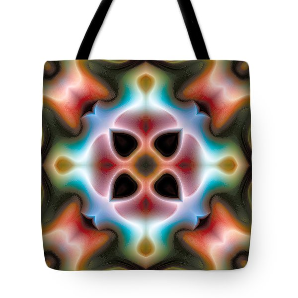 Tote Bag featuring the digital art Mandala 82 by Terry Reynoldson