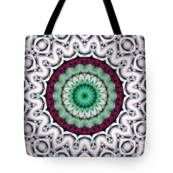 Tote Bag featuring the digital art Mandala 9 by Terry Reynoldson