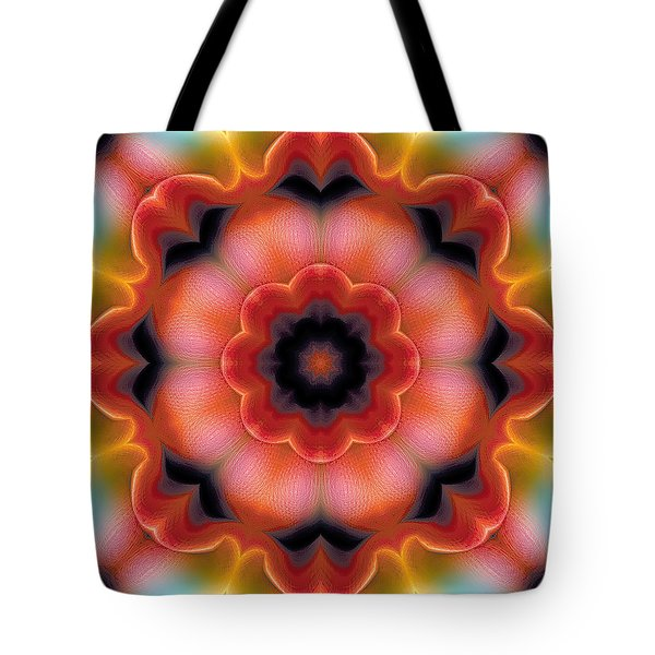 Tote Bag featuring the digital art Mandala 91 by Terry Reynoldson