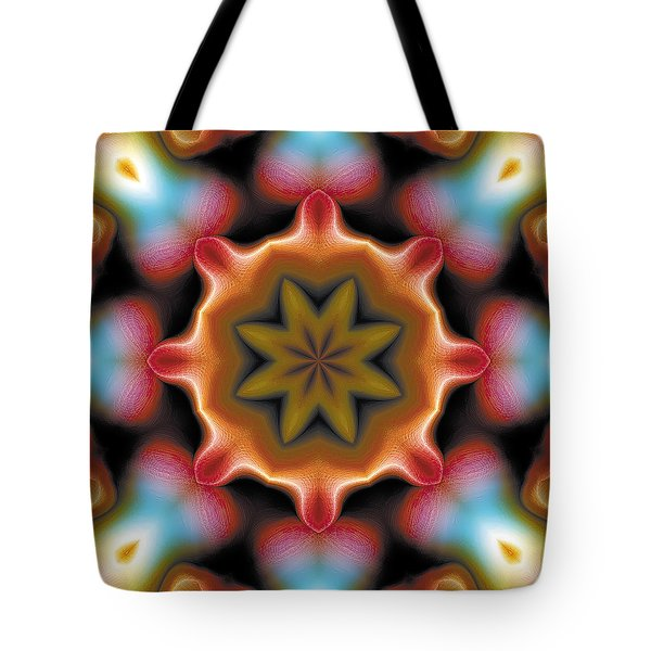 Tote Bag featuring the digital art Mandala 94 by Terry Reynoldson