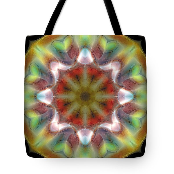 Tote Bag featuring the digital art Mandala 97 by Terry Reynoldson