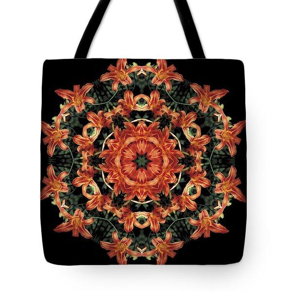 Mandala Daylily Tote Bag