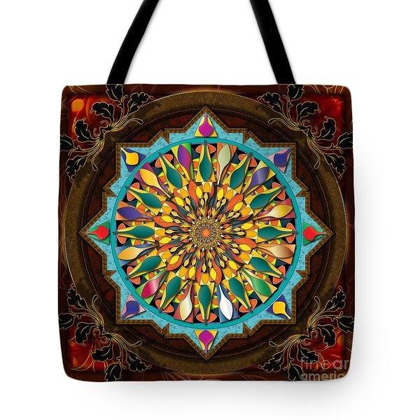 Mandala Droplets Tote Bag by Bedros Awak
