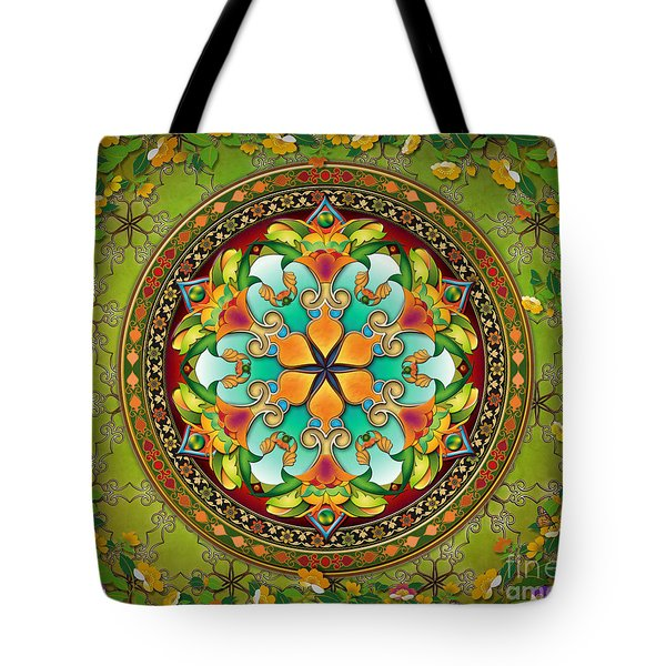 Mandala Evergreen Sp Tote Bag