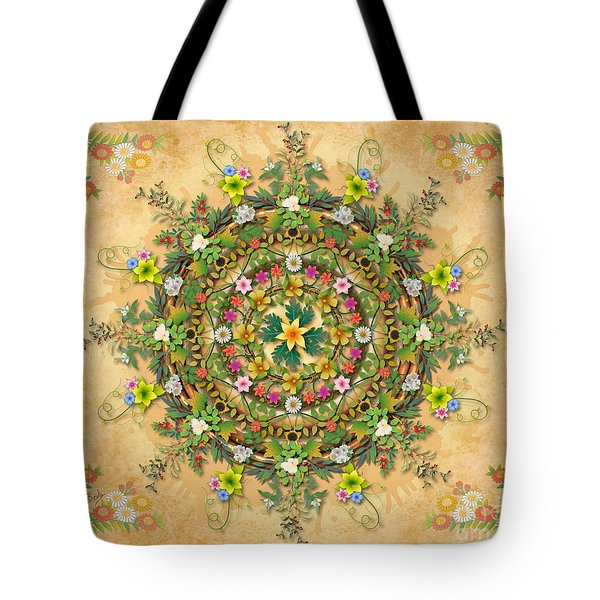 Mandala Flora Sp Tote Bag