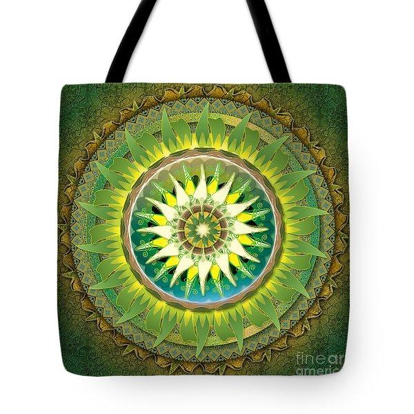 Mandala Green Tote Bag