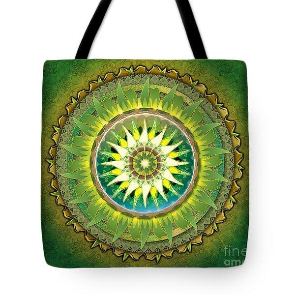 Mandala Green Sp Tote Bag by Bedros Awak