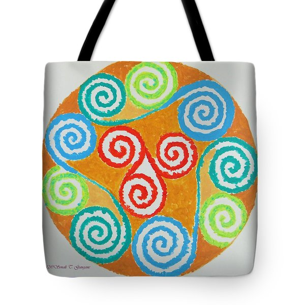 Tote Bag featuring the painting Mandala by Sonali Gangane