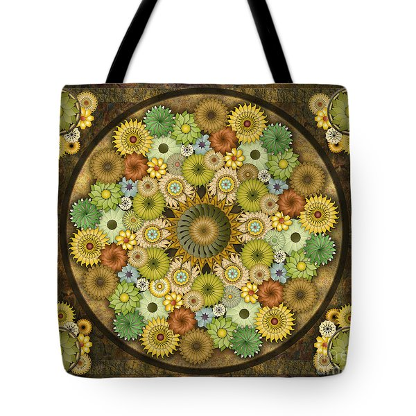 Mandala Stone Flowers Sp Tote Bag