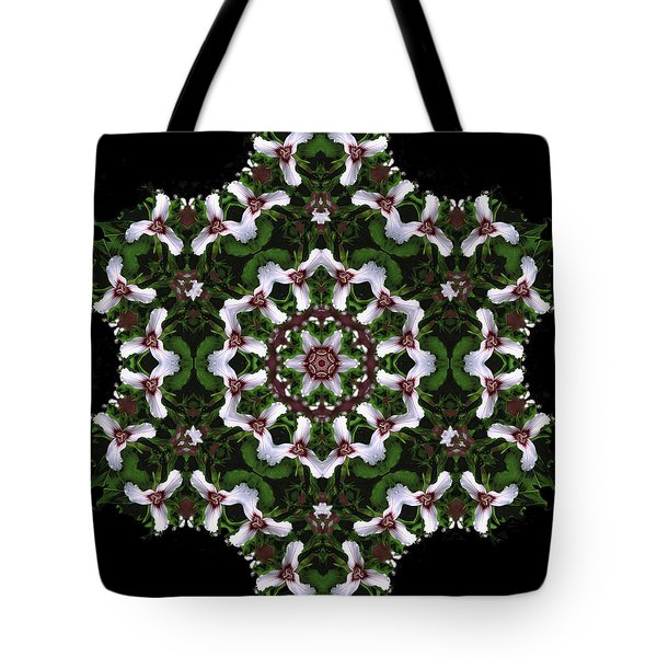 Mandala Trillium Holiday Tote Bag