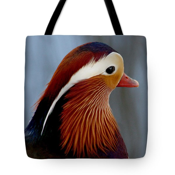Tote Bag featuring the photograph Mandarin Duck by Bob and Jan Shriner