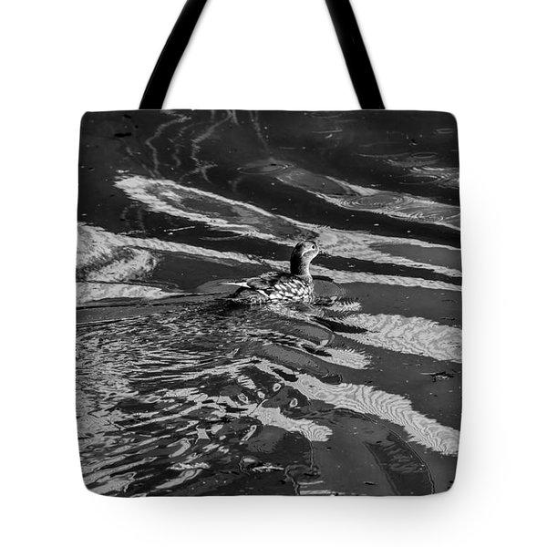 Mandarin Duck Bw - Leif Sohlman Tote Bag