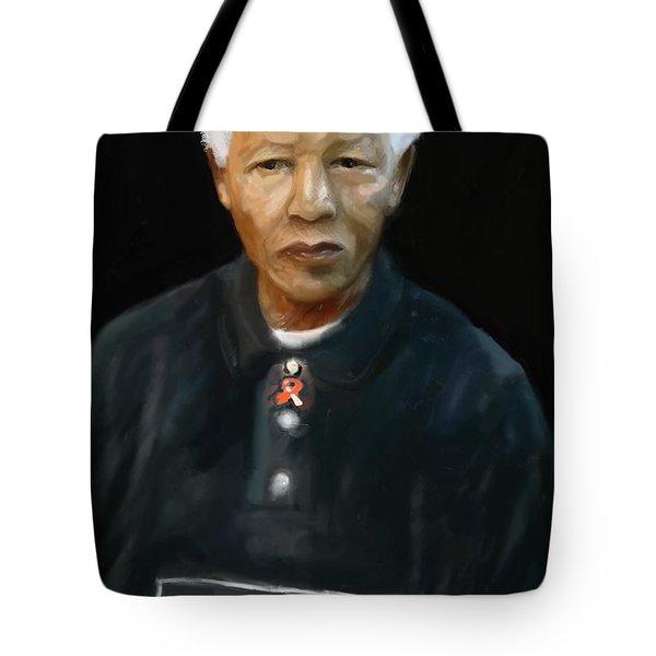Tote Bag featuring the digital art Mandela by Vannetta Ferguson