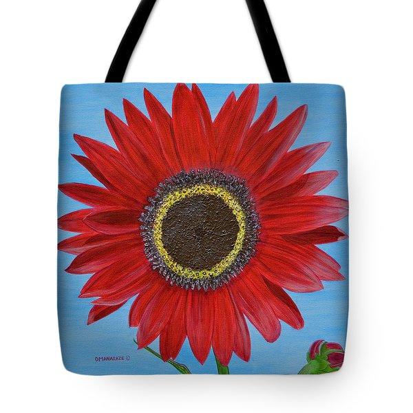 Mandy's Burgundy Beauty Tote Bag by Donna  Manaraze