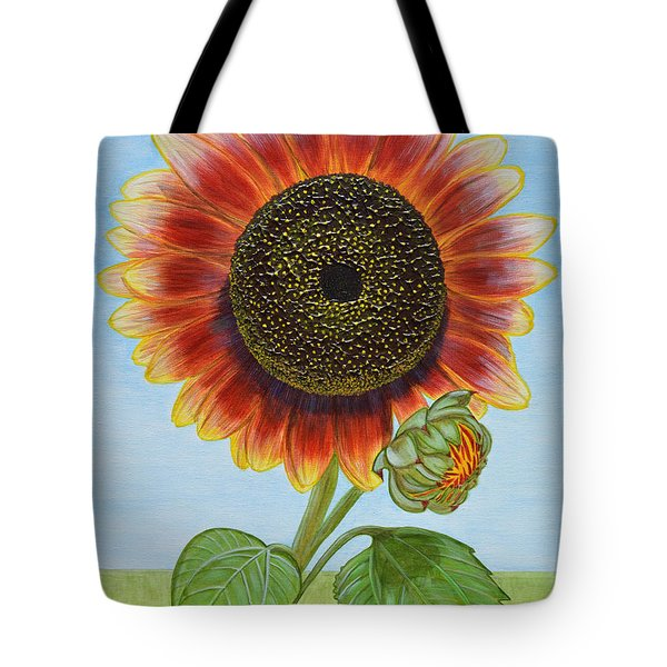 Mandy's Magnificent Sunflower Tote Bag by Donna  Manaraze