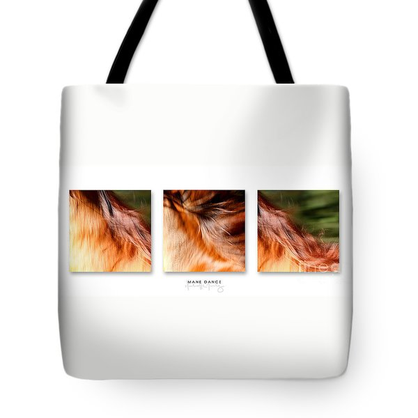 Mane Dance Triptych Tote Bag