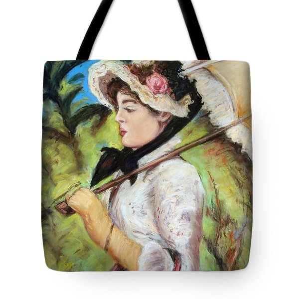 Manet Woman With Parasol Tote Bag