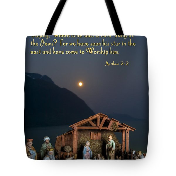 Tote Bag featuring the photograph Manger Scene by Photography by Laura Lee