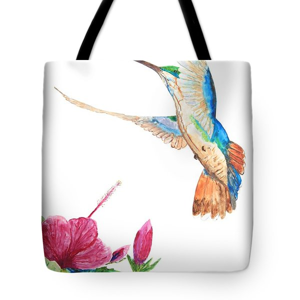Mango Hummingbird Tote Bag