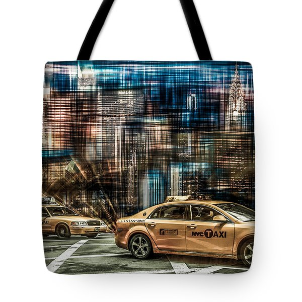 Manhattan - Yellow Cabs - Future Tote Bag by Hannes Cmarits
