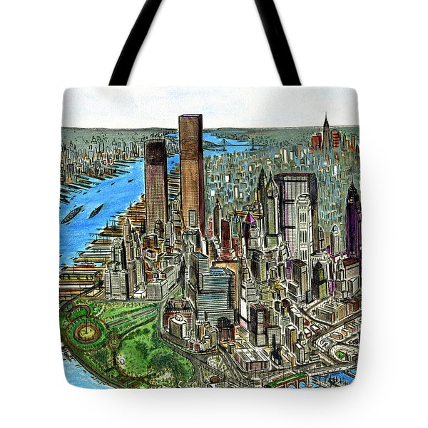 New York Downtown Manhattan 1972 Tote Bag