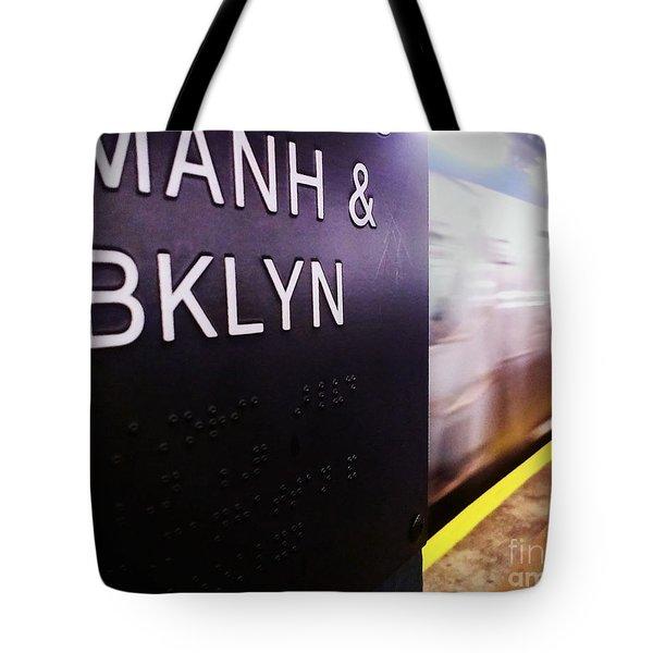 Manhattan And Brooklyn Tote Bag by James Aiken
