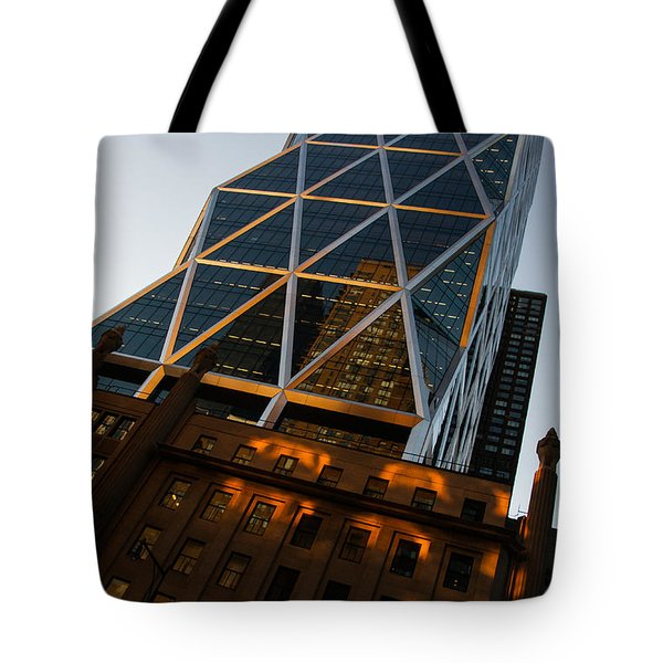 Manhattan Blues And Oranges Tote Bag