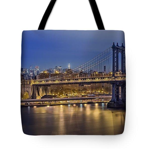 Manhattan Bridge Tote Bag by Eduard Moldoveanu