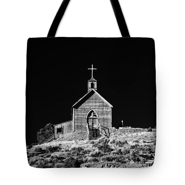 Manhattan Church Tote Bag by Cat Connor