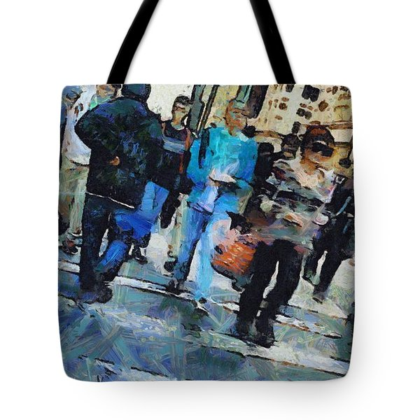 Manhattan Crosswalk Tote Bag by Dan Sproul