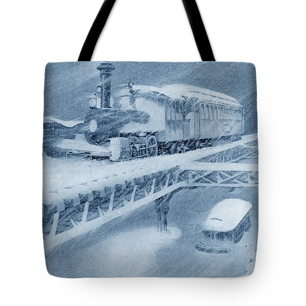 Tote Bag featuring the photograph Manhattan Elevated Holiday Card by Jim Poulos