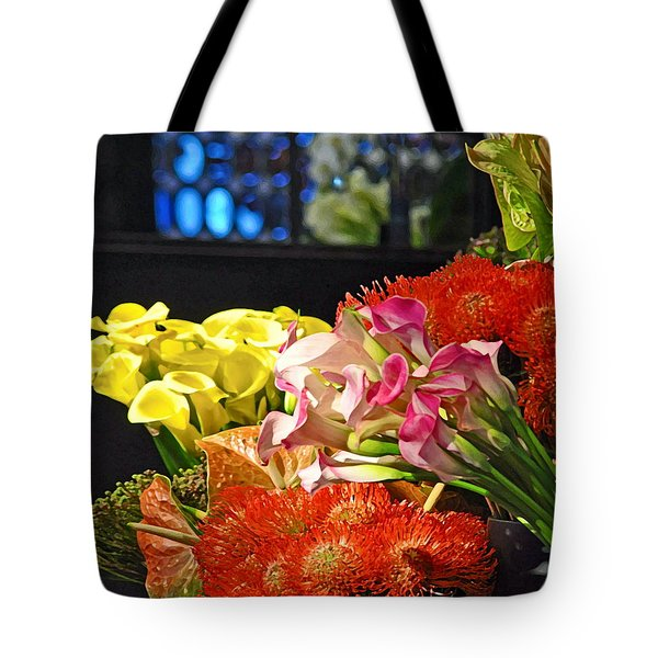 Manhattan Florist Tote Bag by Gwyn Newcombe