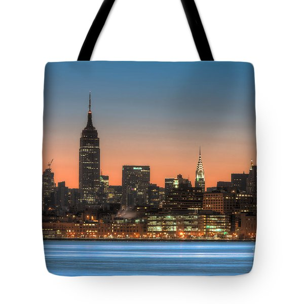Manhattan Skyline And Pre-sunrise Sky I Tote Bag