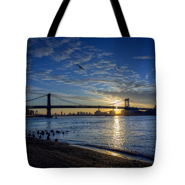 Manhattan Sunset Tote Bag