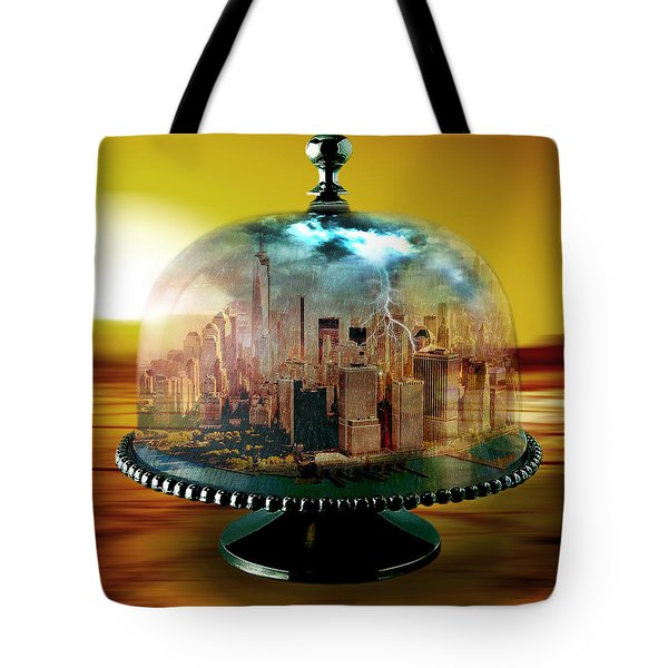 Manhattan Under The Dome Tote Bag